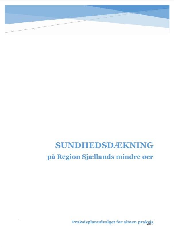 Sundhedsdækning på Region Sjællands mindre øer