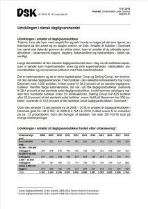Udvikling I dansk dagligvarehandel