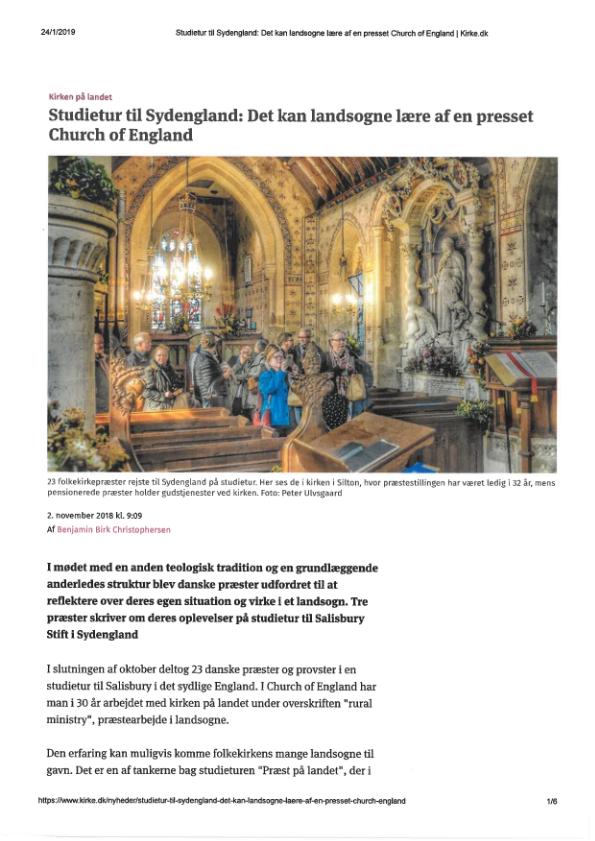 Studietur til Sydengland: Det kan landsogne lære af en presset Church of England