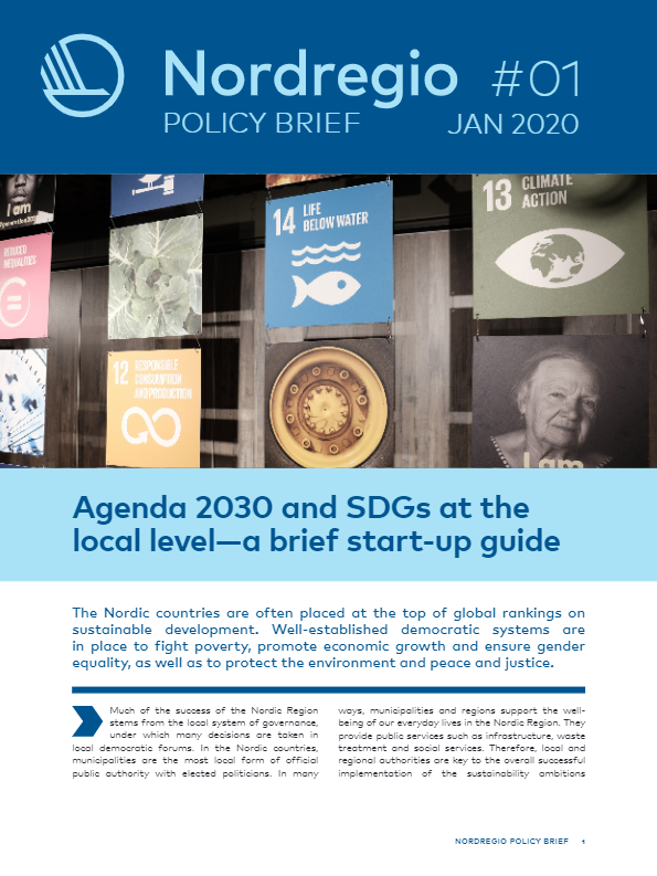 Agenda 2030 and SDGs at the local level – a brief start-up guide