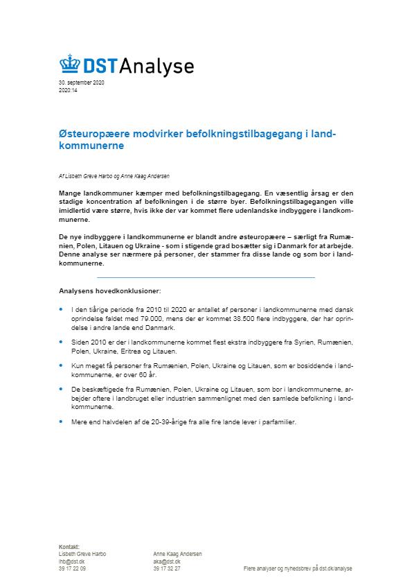 Østeuropæere modvirker befolkningstilbagegang i landkommunerne